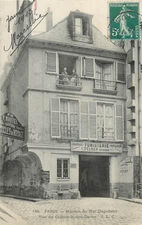 """/ CPA FRANCE 75004 """"Paris, maison du roi Dragobert, rue du Cloitre Notre Dame"""""""