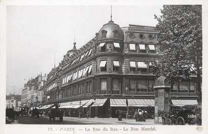 """/ CPSM FRANCE 75006 """"Paris, la rue du bac, le bon marché"""""""