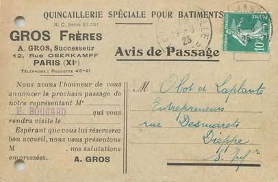 """/ CPA FRANCE 75011 """"Paris, Gros Frères"""" / QUINCAILLERIE"""