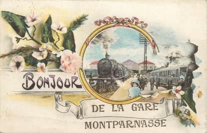 """/ CPA FRANCE 75014 """"Paris, gare de Montparnasse"""""""
