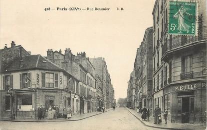 """/ CPA FRANCE 75014 """"Paris, rue Beaunier"""""""