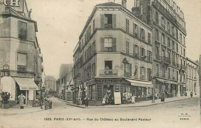 """/ CPA FRANCE 75015 """"Paris, rue du château au boulevard Pasteur"""""""