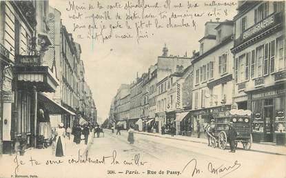 "/ CPA FRANCE 75016 ""Paris, rue de Passy"""