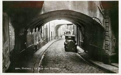 """CPSM FRANCE 83 """"Hyères, rue des Porches"""""""