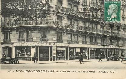 """/ CPA FRANCE 75017 """"Paris, Auto Accessoires, av de la Grande Armée"""""""