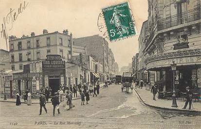 "/ CPA FRANCE 75018 ""Paris, la rue Marcadet"""