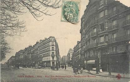 """/ CPA FRANCE 75018 """"Paris, rue des Poissonniers et Bld Barbès"""""""