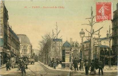 "/ CPA FRANCE 75018 ""Paris, bld de Clichy"""