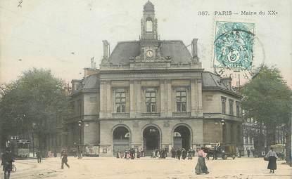 """/ CPA FRANCE 75020 """"Paris, mairie"""""""