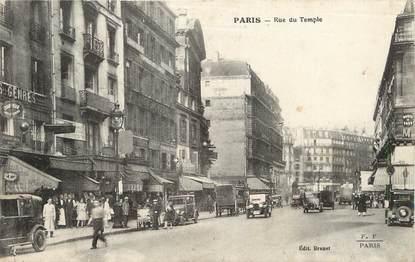 """/ CPA FRANCE 75003 """"Paris, rue du Temple"""""""
