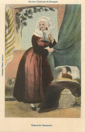 "/ CPA FRANCE 29 ""Femme de Chateaulin, anciens Costumes de Bretagne"""