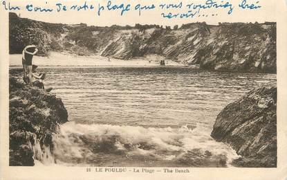 """/ CPA FRANCE 29 """"Le Pouldu, la plage"""""""