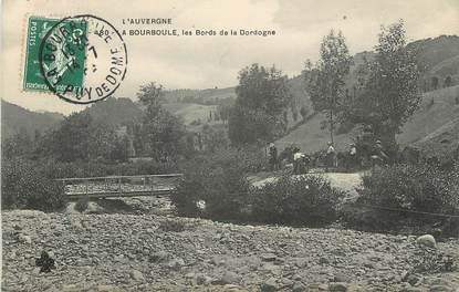 """/ CPA FRANCE 63 """"La Bourboule, les bords de la Dordogne"""""""