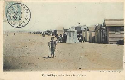 """/ CPA FRANCE 62 """"Le Touquet, Paris Plage, la plage, les cabines"""""""