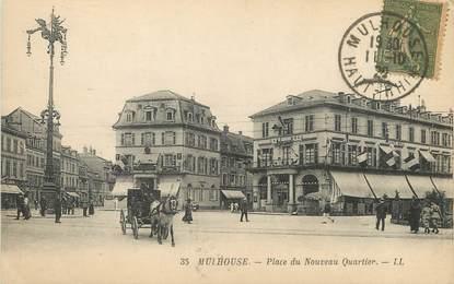 """/ CPA FRANCE 68 """"Mulhouse, place du nouveau quartier """""""