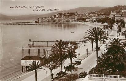"""/ CPSM FRANCE 06 """"Cannes, la Croisette et le Mont Chevalier"""""""