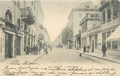 "/ CPA FRANCE 74 ""Annecy, la rue Royale"""