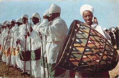 """CPSM  ETHIOPIE """"Prêtres à la fête de Timket"""""""