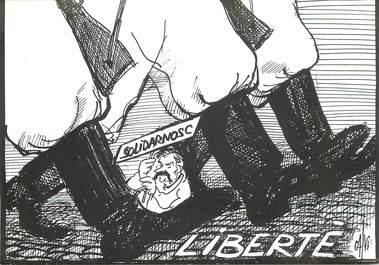 """CPSM POLOGNE """"Parti républicain pour la Liberté"""""""