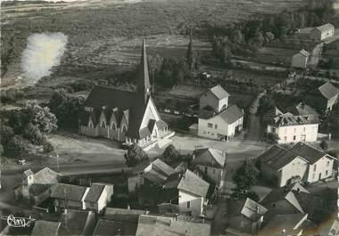 """/ CPSM FRANCE 74 """"Voncy, vue aérienne de l'église"""""""