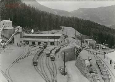 """/ CPSM FRANCE 74 """"Chamonix, tunnel sous le Mont Blanc, vue générale du chanitier"""""""