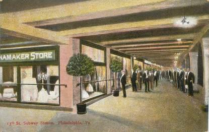 "CPA USA ""Philadelphie, station métro"""