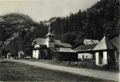 """/ CPSM FRANCE 74 """"Les Contamines Val Montjoie, chapelle de notre Dame de la Gorge"""""""