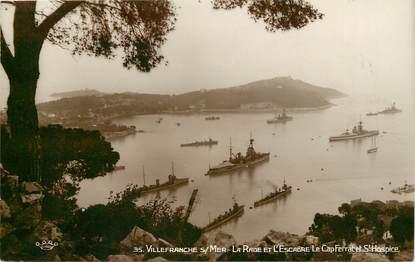 """CPSM FRANCE 06 """"Villefranche sur Mer, la rade et l'escadre"""""""