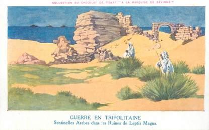 """CPA LIBYE """"Sentinelles arabes dans les ruines de Leptis Magna"""""""