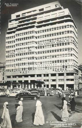 """CPA MAROC """"Casablanca, immeuble de la BNCI"""""""