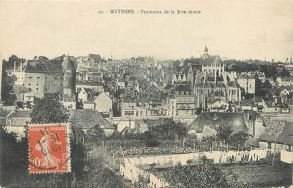 "/ CPA FRANCE 53 ""Mayenne, panorama de la rive droite"""