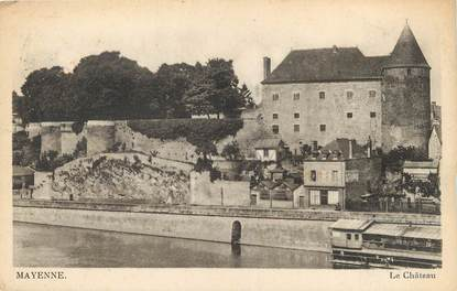 "/ CPA FRANCE 53 ""Mayenne, le château"""
