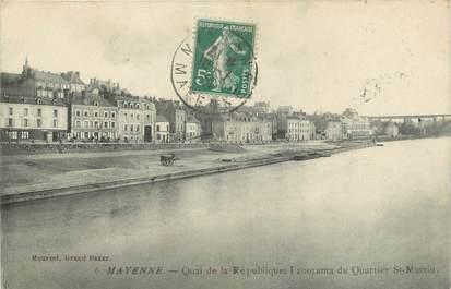 """/ CPA FRANCE 53 """"Mayenne, quai de la République """""""