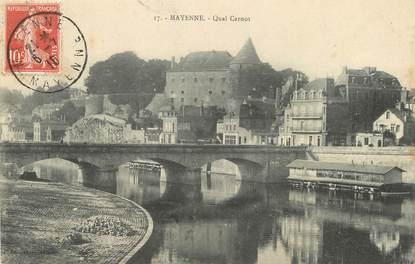 """/ CPA FRANCE 53 """"Mayenne, quai Carnot"""""""