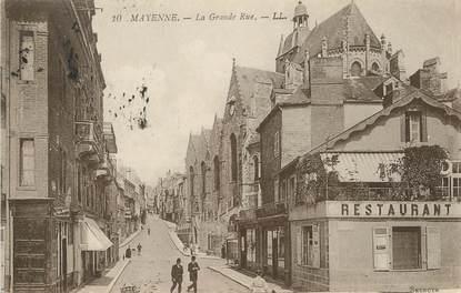 "/ CPA FRANCE 53 ""Mayenne, la grande rue"""