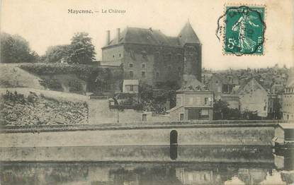 "/ CPA FRANCE 53 ""Mayenne, le château """