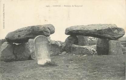 """/ CPA FRANCE 56 """"Carnac"""" / DOLMEN"""