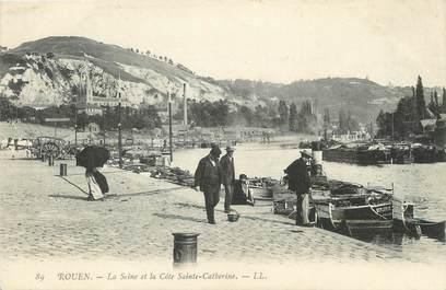 """/ CPA FRANCE 76 """"Rouen, la seine et la côte Sainte Catherine"""""""