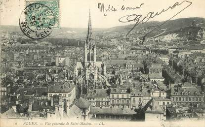 """/ CPA FRANCE 76 """"Rouen, vue générale de Saint Maclou"""""""