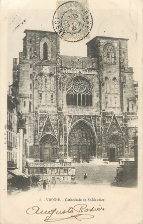 """/ CPA FRANCE 38 """"Vienne, cathédrale de Saint Maurice"""""""
