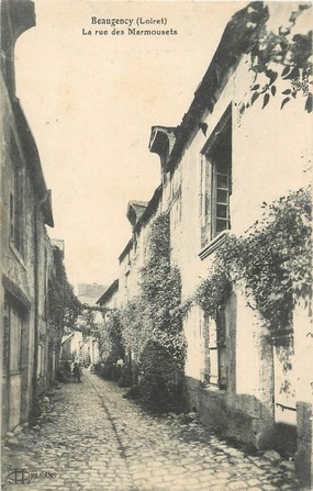 """/ CPA FRANCE 45 """"Beaugency, la rue des Marmousets"""""""