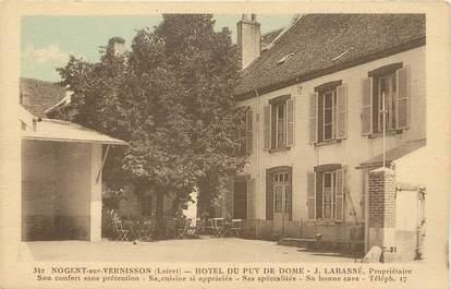 """/ CPA FRANCE 45 """"Nogent sur Vernisson, hôtel du Puy de Dome"""""""