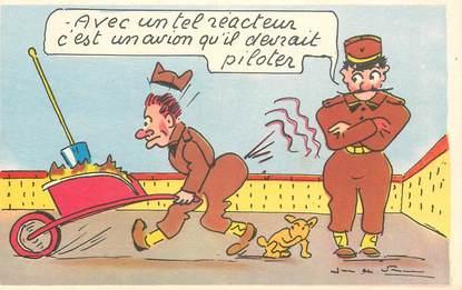 """CPA JEAN DE PREISSAC  """"avec un tel réacteur, c'est un avion..."""""""