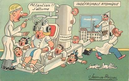 "CPA JEAN DE PREISSAC  ""Indéfrisable atomique"""