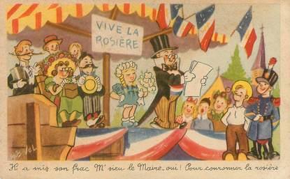 "CPA ROB VEL   ""Vive la Rosière"""