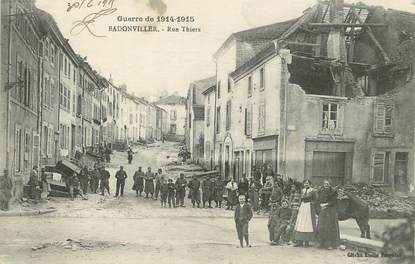 "/ CPA FRANCE 54 ""Badonviller, rue Thiers"""
