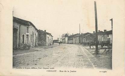 """/ CPA FRANCE 54 """"Choley, rue de la Justice"""""""
