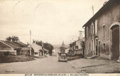 """/ CPA FRANCE 54 """"Doncourt les Conflans, rue Jules Chardebas"""""""