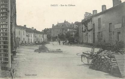 "/ CPA FRANCE 54 ""Faulx, rue du château"""