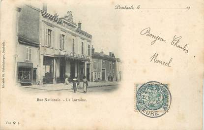 """/ CPA FRANCE 54 """"Dombasle, rue Nationale"""""""